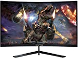 Sceptre 27' Curved 144Hz Gaming LED Monitor Edge-Less AMD FreeSync DisplayPort HDMI, Metal Black 2019 (C275B-144RN)