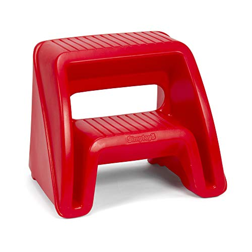 Simplay3 Handy Home 2-Step Plastic Stool 16 in. - Red