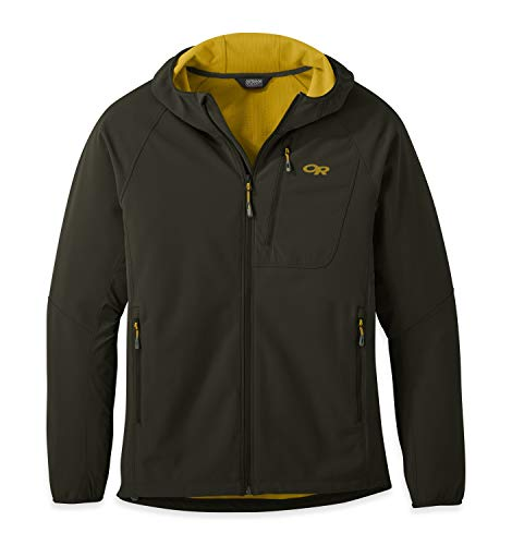 Outdoor Research Ferrosi Grid Hooded Jacket - Men's Forest, XL