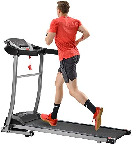 Merax Folding Electric Treadmill Motorized Running Machine Easy Assembly Electric Treadmills for Home, Motorized Fitness Compact Running Equipment with LCD for Home 1