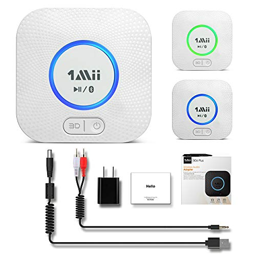 1Mii-B06-Plus-Bluetooth-Receiver-HiFi-Wireless-Audio-Adapter-Bluetooth-Receiver-with-3D-Surround-Low-Latency-for-Home-Music-Streaming-Stereo-System-White