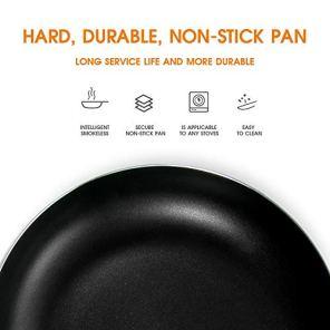 Mastertop-112-In-Nonstick-Frying-Pan-Aluminum-Cookware-Durable-Cooking-Pan-with-Pot-Brush-Black