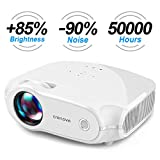 Video Projector, [Upgrade] Crenova Full HD 1080P Support Home Projector, 3200 Lumen Portable Mini Movie Projector with 50,000 Hrs LED Lamp Life, Compatible with TV Stick, PS4, HDMI, VGA, TF, AV, USB