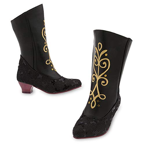 Disney Anna Costume Boots for Kids Size 9/10 YTH Black