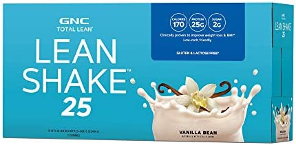 GNC Total Lean Lean Shake with 25g of Protein in just 170 Calories, Vanilla Bean 12 servings 1