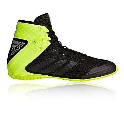 adidas Speedex 16.1 Boxing Shoes, Black/Solar Yellow, 10