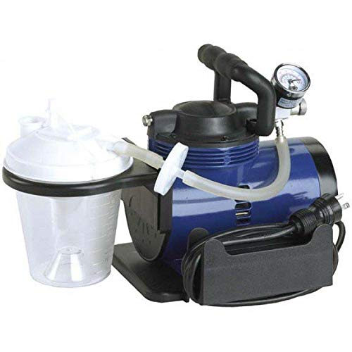 Heavy Duty Mucus Secretion Machine for Home Use Includes 800 cc Suction Canister, 6' Suction Tube, 10' Suction Canister tubing, Hydrophobic Filter, Plastic Elbow Conn