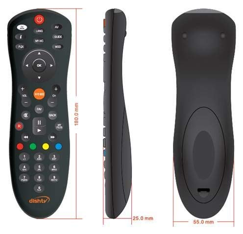 JPBROTHERS 4U, (Combo Offer) Compatible Dish TV Universal Set Top Box Remote Control (Black), with PU Leather Cover Holder (Remote + Cover Both are Given) 3