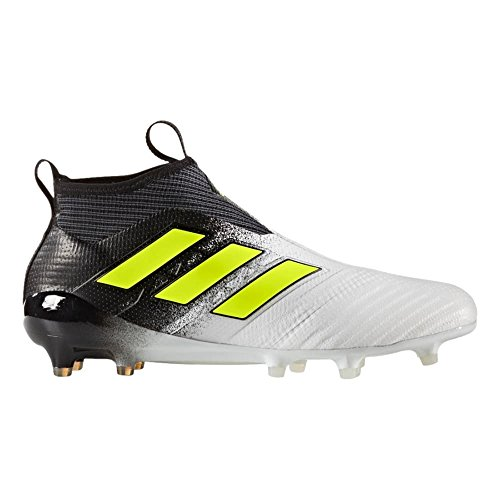 adidas Ace 17+ Purecontrol FG Cleat Mens Soccer 10 Running White-Electricity-Black