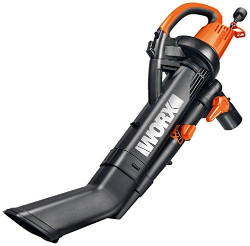 WORX WG505 3-in-1 Blower/Mulcher/Vacuum, 9' x 15' x 20', Orange and Black