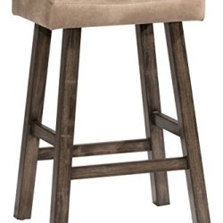 Hillsdale Furniture Saddle Backless, Rustic Gray Bar Stool