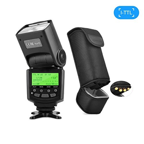APEMAN I-TTL Speedlite Flash Speedlight for Nikon, Supports Rear Curtain Sync and M/MULTI/S1/S2 Flash Mode, LCD Display, Multi-functional Portable Package, Exclusive Design for Nikon DSLR Camera