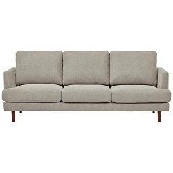 Amazon Brand – Rivet Goodwin Modern Sofa, 88.6″W, Light Grey