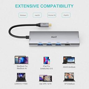 USB-C-Hub-USB-Hub-to-HDMI-Multiport-AorZ-USB-C-Dongle-Adapter-7-in-1-with-4K-HDMI-Output3-USB-30-PortsSDMicro-SD-Card-Reader100W-PDCompatible-with-MacBook-Pro-Air-HP-XPS-and-More-Type-C-Devices