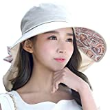 Siggi Womens Wide Brim Summer Sun Flap Cap Hat Neck Cover Cord Cotton UPF 50+ Khaki