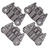 [UPGRADED] W10195417 New Replacement Part for Lower Dishwasher Wheel– Exact Fit For Whirlpool Kenmore Dishwasher - Enhanced Durability with Steel Screws - PACK OF 4