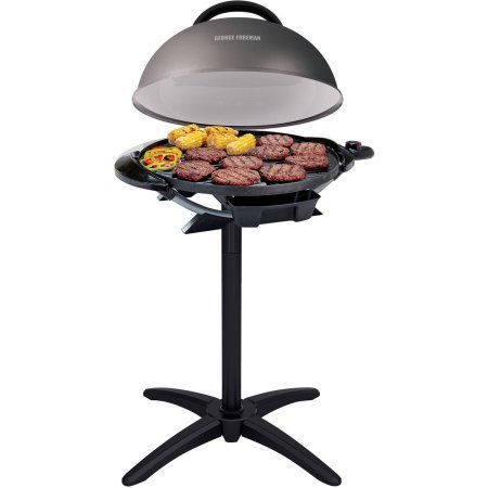George Foreman 240' Indoor/Outdoor Grill, 15-Servings, Removable