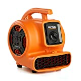 RIDGID 600 CFM Blower Fan Air Mover with Daisy Chain, 1/5 HP, 2.1 Amp, 3-speed Induction Motor, Adjustable Vent, Ergonomic Handle for Easy Lifting and Carrying, AM2265