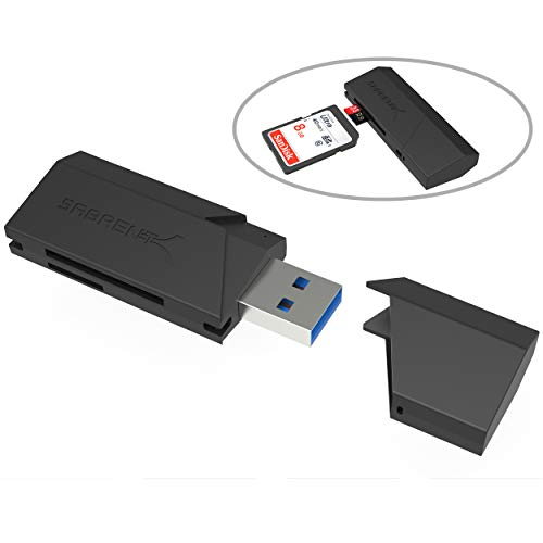 Sabrent SuperSpeed 2-Slot USB 3.0 Flash Memory Card Reader for Windows, Mac, Linux, and Certain Android Systems - Supports SD , SDHC , SDXC , MMC / MicroSD , T-Flash [Black] (CR-UMSS)