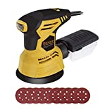 Ginour Random Orbit Sander, 2.5A 5-inch sander with 10Pcs Sandpapers, 12000 OPM, 6+Max Variable Speed, Efficient Dust Collection System, Ideal for Sanding, Finishing, Polishing Wood