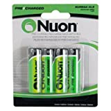Nuon - (4 Pack) NUREAA-4LS Cordless Phone Nuon Batteries