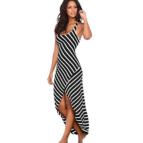 753b7250b9e Jushye Women's Sleeveless Long Dress, Women Casual Ankle Length ...