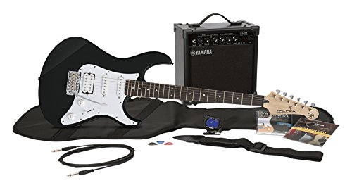 Yamaha Gigmaker EG Electric Guitar Pack with Amplifier, Gig Bag, Tremolo Bar, Tuner, Instructional DVD, Cable, Strap, Strings, and Picks - Black
