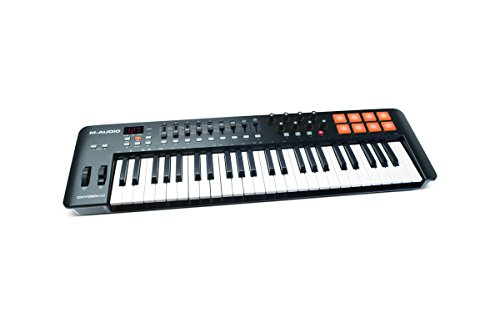 M-Audio Oxygen 49 MKIV   49-Key USB MIDI Keyboard & Drum Pad Controller (8 Pads / 8 Knobs / 9 Faders), VIP Software Download Included