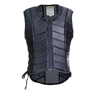 UNISTRENGH Equestrian Vest Professional Safety EVA Padded Horse Riding Vest Body Protector Gear Waistcoat Unisex Black…