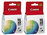 2 X Canon CL-41 Color FINE Ink Cartridge