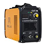 SUNCOO Cut 50 Plasma Cutter Electric DC Inverter Cutting Machine with Digital Display Dual Voltage 110/220V, 1/2' Clean Cut