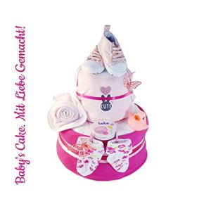 Nappy Cake for Girls> Newborn Christening Baby Shower Gift for Newborn Christening Baby Shower Girl Boy 41N2dTwIouL