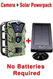 MyCommand Solar Trail Camera 12MP Animal Game Time Lapse Cam with Night Vision Motion Activated , IP66 Waterproof 1080p Spy Outdoor Deer & Wildlife Hunting.