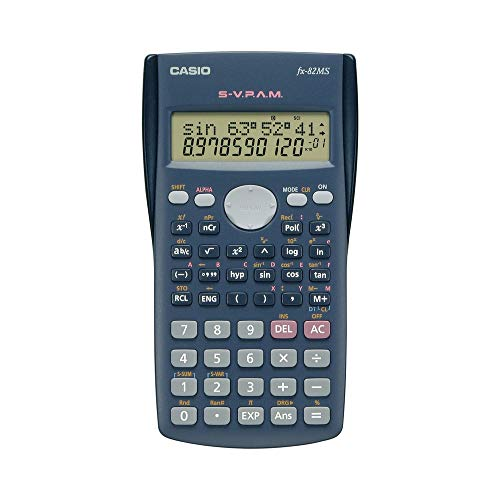 Casio FX-82MS-SC-MH Calculadora Científica, 2 Líneas de 10 Dígitos/2 Exponente, 240 Funciones,...
