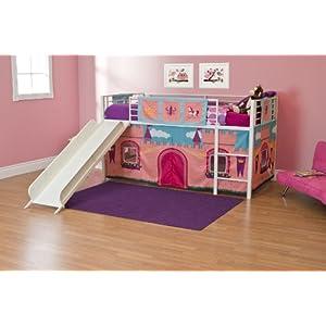 DHP Princess Castle Design Curtain Set for Junior Loft Bed
