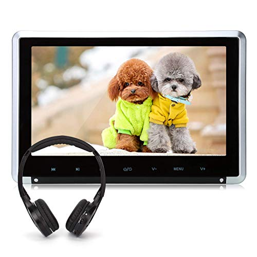 10.1' Car Headrest DVD Player Support Sync Screen, Resume, HDMI Input, Region Free, 1080P Video, AV Out & in, USB SD - NAVISKAUTO