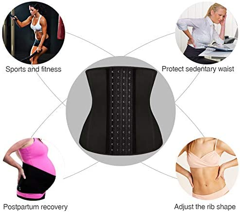 SlimmKISS Womens Latex Waist Trainer Underbust Corset for Weight Loss Body Shaper Sport Girdle 5