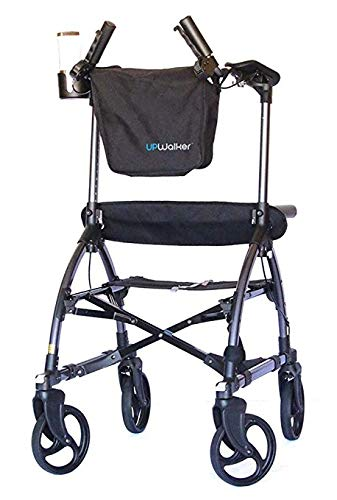 UPWalker Mobility Stand Up Walking Aid (Upright Posture Rolling Walker With Seat)