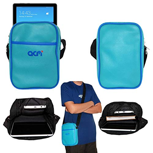 Acm Soft Padded Shoulder Sling Bag Compatible with Huawei Mediapad T5 WiFi Edition 10.1 Inch Carrying Case Turquoise 131