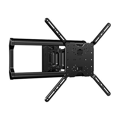 Sanus Full-Motion TV Wall Mount for 37' to 80' TVs Extends 18' & Fits Studs Up to 24' - Bracket fits Most LED, LCD, OLED, and Plasma Flat Screen TVs w/VESA Patterns up to 600 x 400 - OLF18-B1