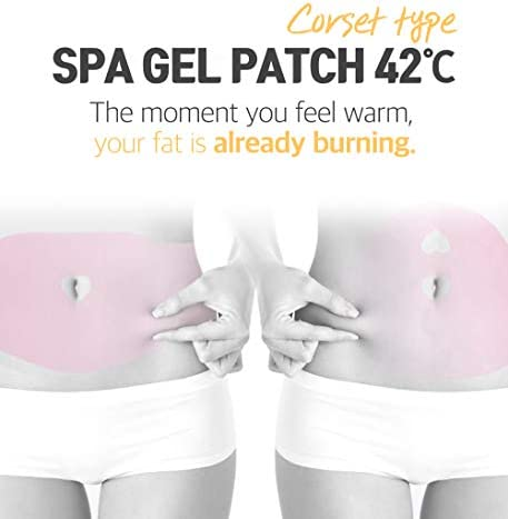 Spa Gelpatch 42 Degree Body Wrap Cellulite Contouring Slimming for Women & Men Capsaicin Caffeine Natural Ingredients Fast Natural Heating Slim Skinny Fit Sticker (Belly Patch (Pack of 5)) 2