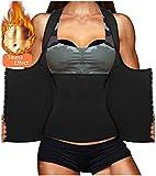 LODAY Womens Shapewear Weight Loss Neoprene Sauna Sweat Waist Trainer Corset Tank Top Vest Sport Workout Slimming Body Shaper (Black(Underwear Vests, XL (US 14-16))