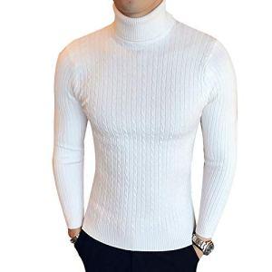 NanGate Winter High Neck Thick Warm Sweater Mens Sweaters Men Knitwear Male Double Collar