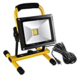 LEDGLE 2500LM 30W LED Work Light (210W Equivalent), Waterproof LED Flood Lights, 16ft/5M Cord with Plug, Adjustable Angle,Stand Industrial Working Light for Workshop, Construction Site, 6000K Daylight