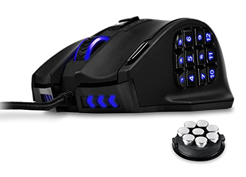 UtechSmart Venus 16400 DPI High Precision Laser MMO Gaming Mouse