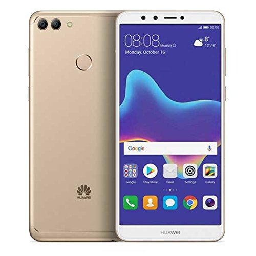 "Huawei Y9 2018 FLA-LX3 5.93"" HiSilicon KIRIN 659 32GB 3GB RAM DUAL SIM A-GPS Fingerprint No Warranty US (Gold)"