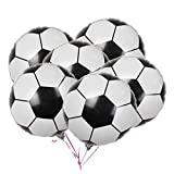 20-Pack Soccer Balloons Game Balloons Foil Mylar Aluminum Party Balloons for Birthday Party Decoration