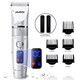 SOLIMPIA Mens Hair Clipper Cordless Hair Trimmer Kit for Men, Pro Titanium Ceramic Blade Electric Hair Trimmer with LED Display and USB Lithium Battery
