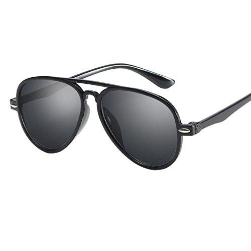 Limsea Hot Sale! Kids Retro Anti-UV Sunglasses Color Film Goggles New Cool Baby Boy Girls Glasses (Black)