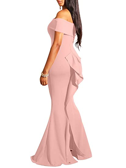 Off Shoulder Gown Maxi Evening Party Mermaid Dress